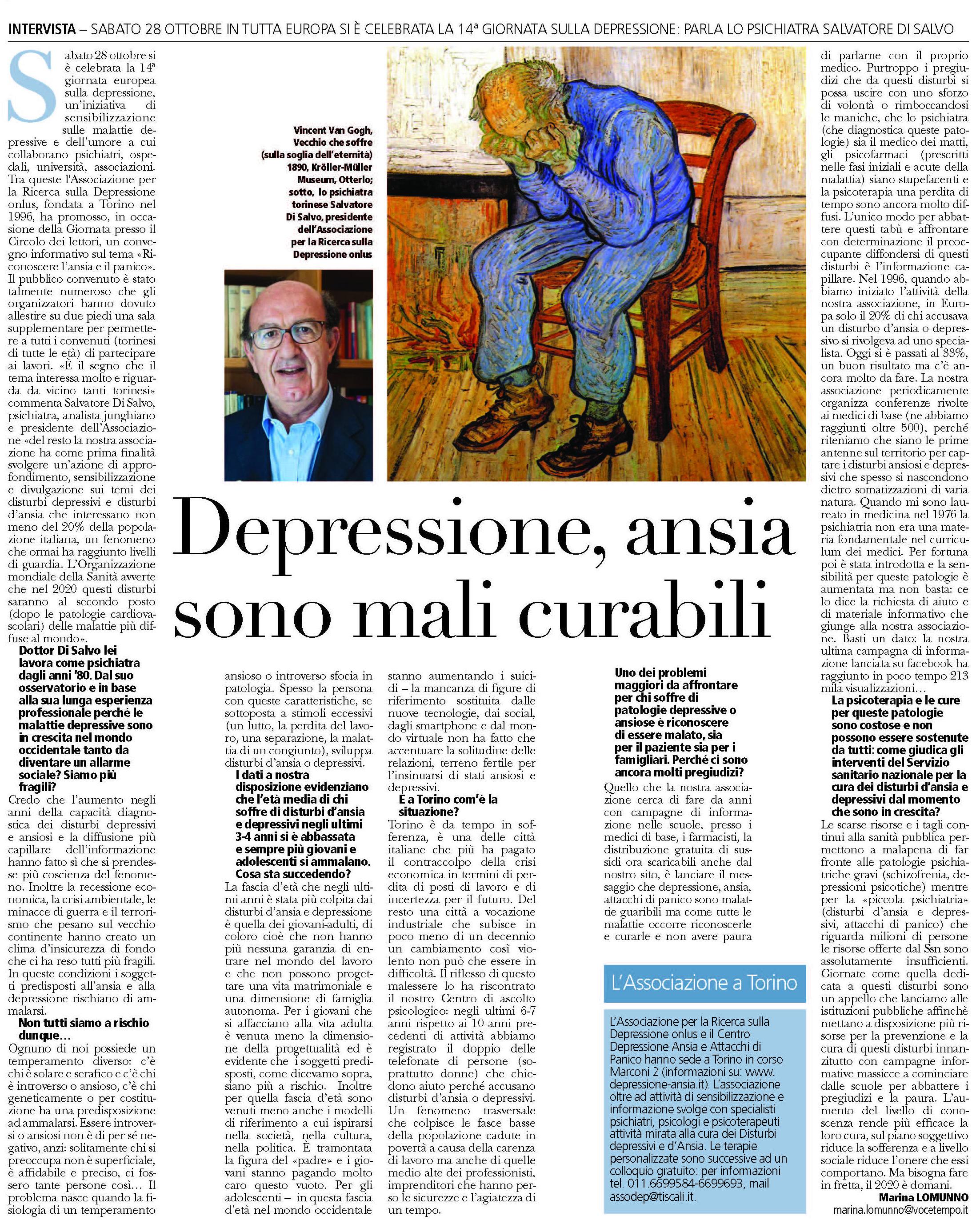 depressione ansia e panico mali curabili